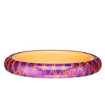 荧光桃红树脂手环