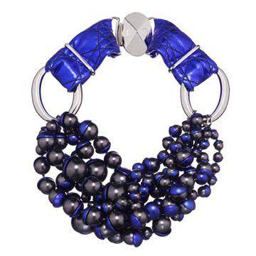 海蓝色珠串项链