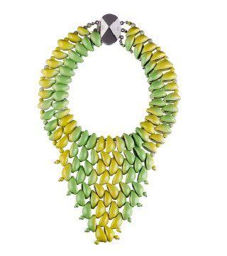 染色珊贝编绣项链