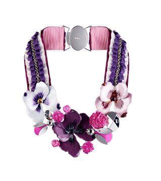 花卉编绣项链