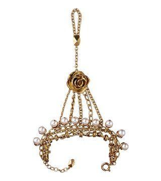 珍珠花朵链条配饰