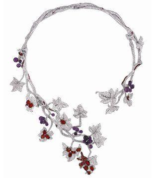 高级珠宝 藤蔓枝叶项链