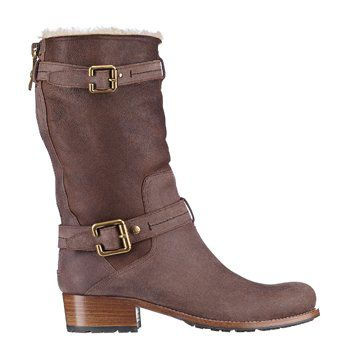 棕色中筒靴