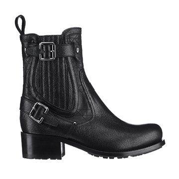 黑色皮短靴