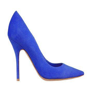宝石蓝色高跟鞋