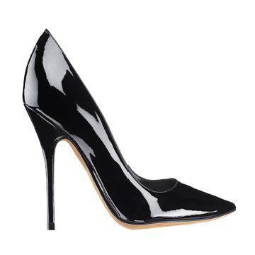 黑色漆皮皮鞋