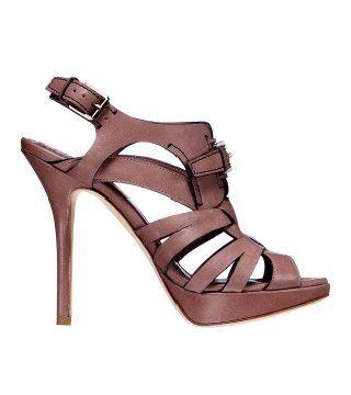 丁子茶色凉鞋