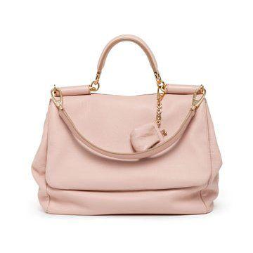 粉色牛皮手提包