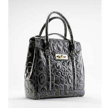 黑色鳄鱼皮手提包