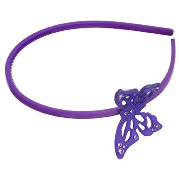 紫色树脂发箍