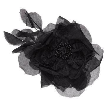 黑色纱缎发饰