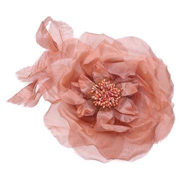 粉色纱缎发饰