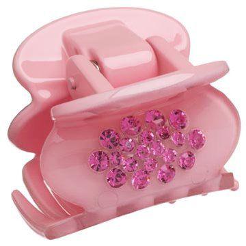 粉色树脂发夹