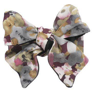 印花蝴蝶结发夹