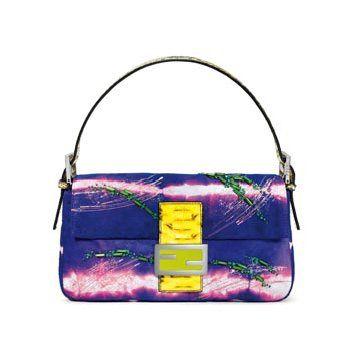 紫色麂皮手提包