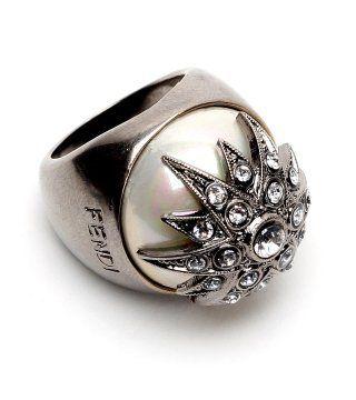 水晶花饰戒指