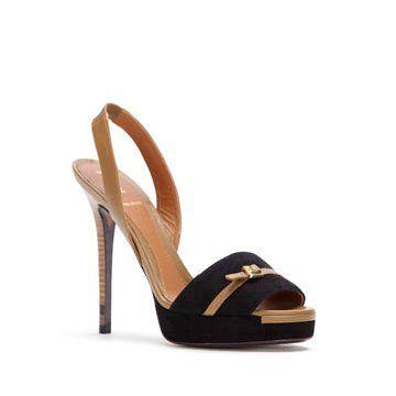 黑色麂皮凉鞋
