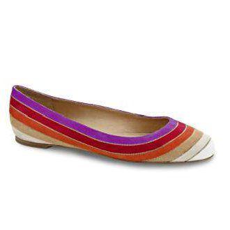 彩虹色平底鞋