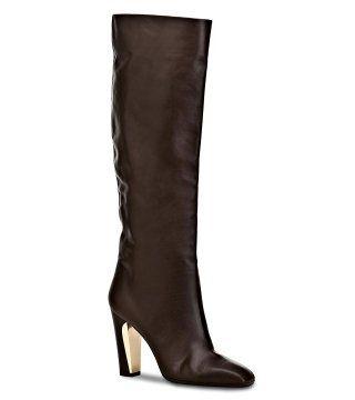 褐色高跟长靴