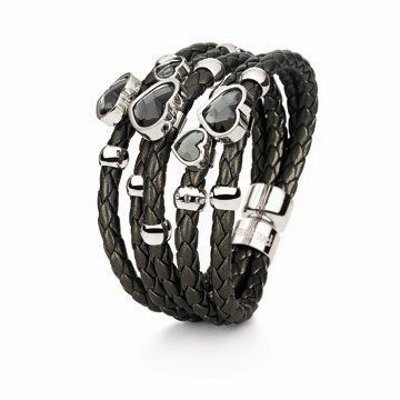 Synthesis系列粗黑色手链