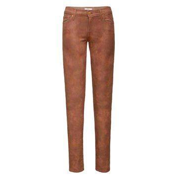 裸粉色蛇纹牛仔裤
