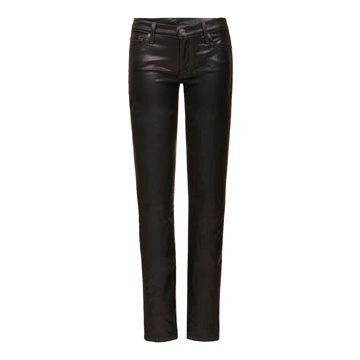 紫色金属牛仔裤
