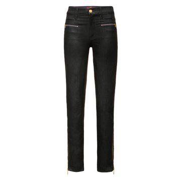 黑色瘦腿牛仔裤