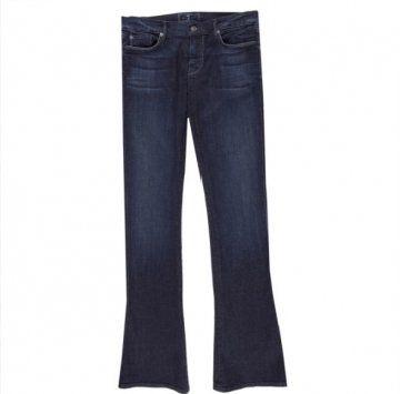 深色牛仔长裤