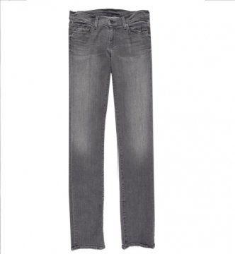 灰色帆布长裤