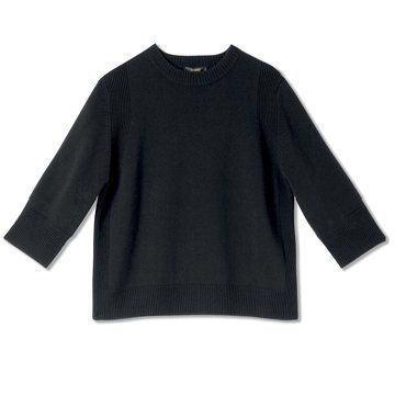 迦达黑色基本款羊毛衫