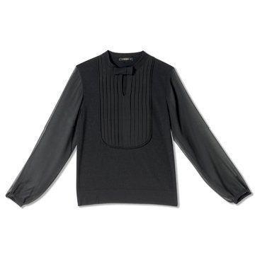 迦达黑色小蝴蝶领衬衫