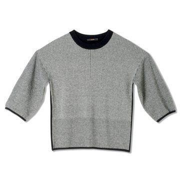 迦达灰色短袖羊毛衫