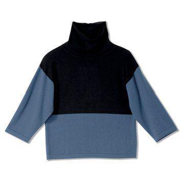 迦达拼色羊毛衫