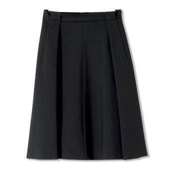 迦达黑色百褶裙