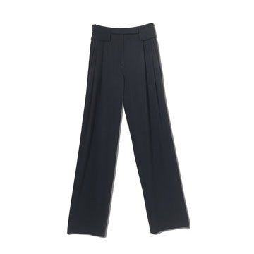 黑色修身长裤
