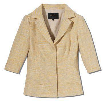 黄色花纹外套
