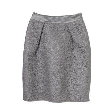 灰色收腰半裙