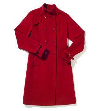 红色毛呢大衣