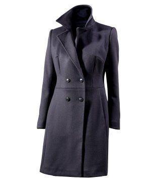 西装领长外套