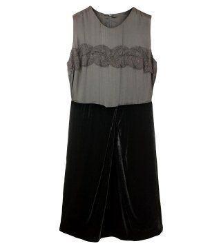 H形腰线分割饰无袖连身裙