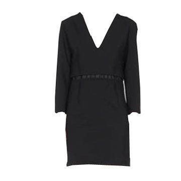 黑色连身裙