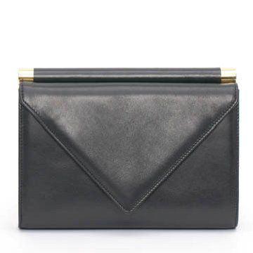 Design黑色皮革手提包