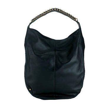 Design黑色皮革单肩包