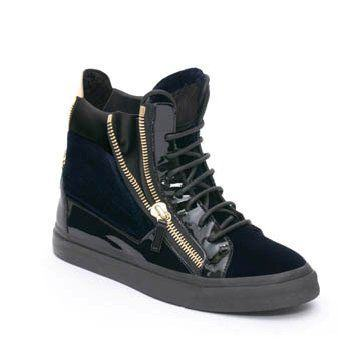 黑色麂皮拼接平底鞋