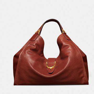 棕红色牛皮手提包