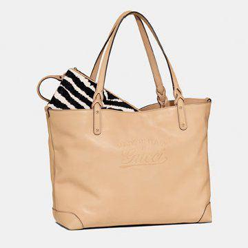 驼色购物袋