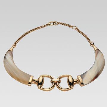 牛角形装饰项链