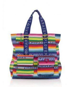 虹彩帆布手提包