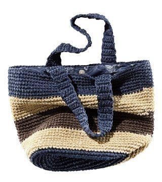 草藤编织拼色条纹包