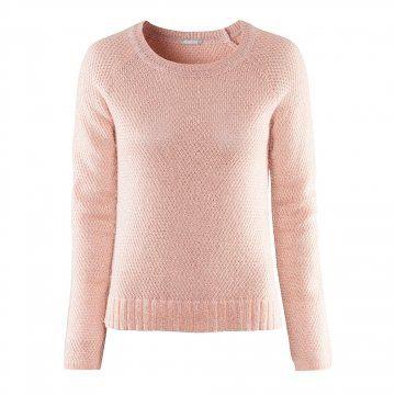银丝混编粉红色针织衫